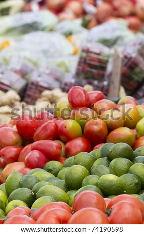 Vegetable for sale on a Street Market's Table.