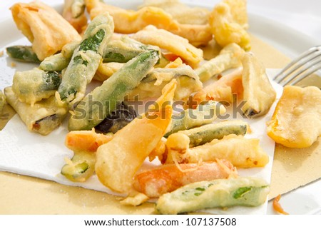 vegetable fried - stock photo