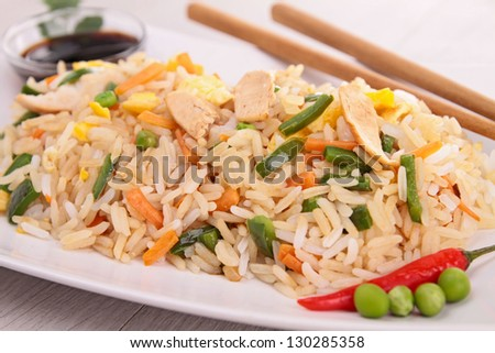 vegetable fried rice - stock photo