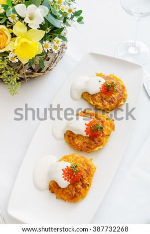 vegetable fritters - stock photo