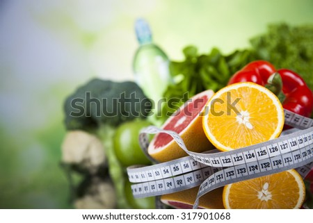 Vegetable, Fruits and fitness composition