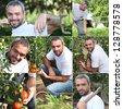 Vegetable gardener - stock photo