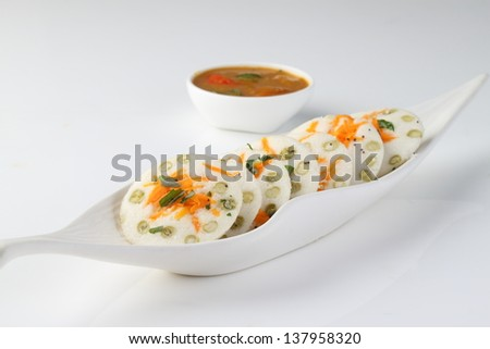 vegetable idly - stock photo