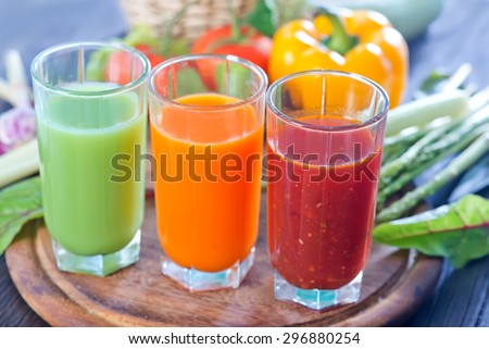 vegetable juices - stock photo