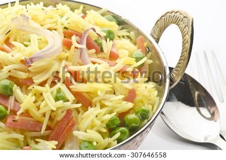 Vegetable Polao - stock photo