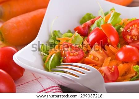 Vegetable salad. - stock photo