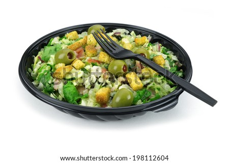 Vegetable salad food pack  - stock photo