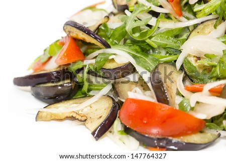 vegetable salad on a plate in a restauran