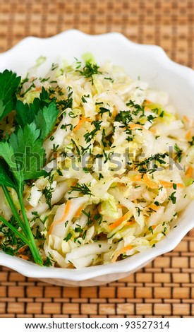 vegetable salad sauerkraut - stock photo