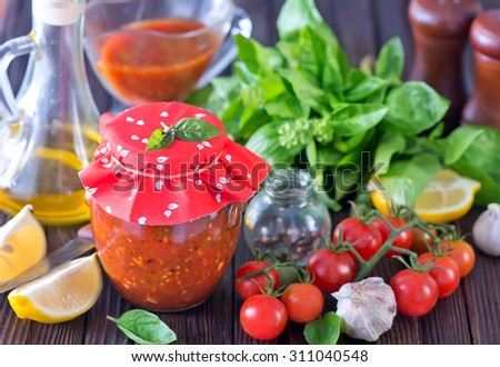 vegetable sauce - stock photo