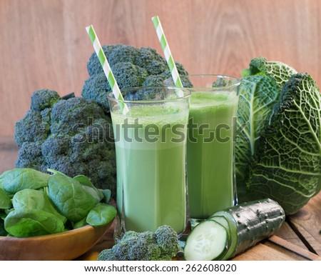 vegetable smoothie - stock photo