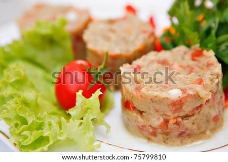 Vegetable souffle - stock photo