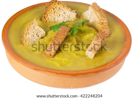 vegetable soup isolated