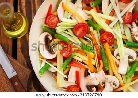 Vegetable Stir Fry - stock photo