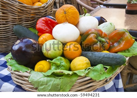 vegetable tray - stock photo