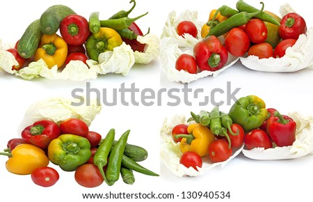 vegetable Vegetarian green, yellow, orange, red and