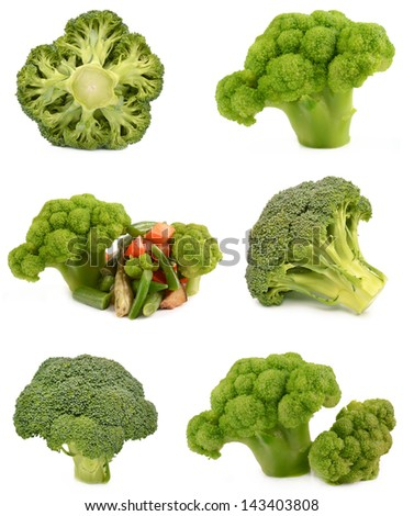 Vegetables and broccoli - stock photo