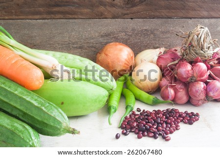 Vegetables and herb in Thai cuisine