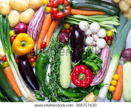 Vegetables and mushrooms - stock photo