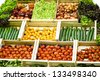 Vegetables' assortment / Fresh Vegetables for sale - stock photo