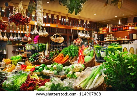 Vegetables at a market - stock photo