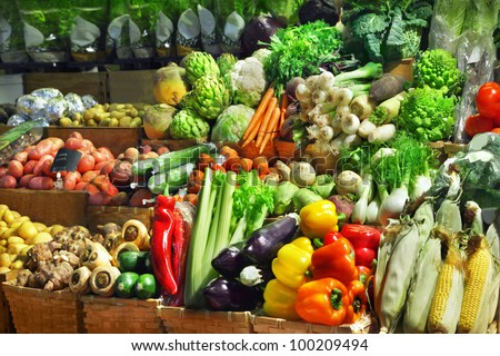 Vegetables at a market stall