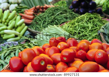 Vegetables at the market