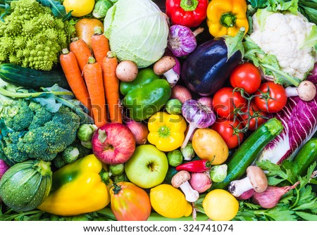 Vegetables background. - stock photo
