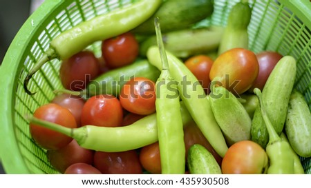 Vegetables basket for cooking