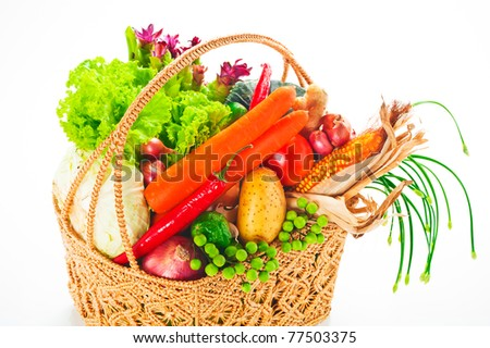 Vegetables - cabbage, tomato, cucumber, onion, lettuce and so on