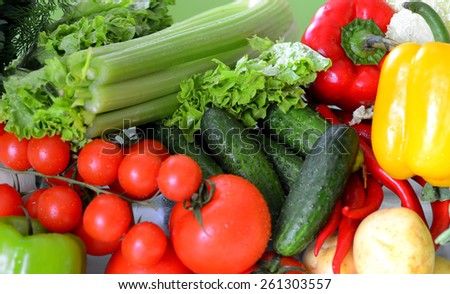 vegetables, close-up