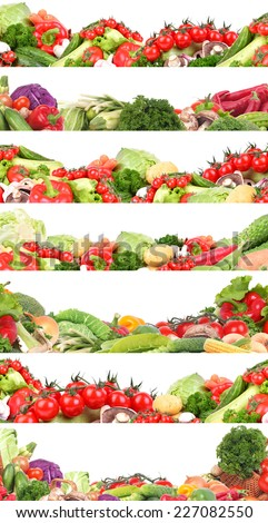 Vegetables collection - stock photo