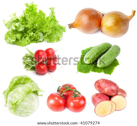 Vegetables Collection Set isolated