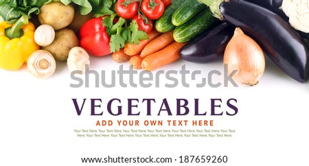 Vegetables collection, Vegetables isolated. Set of different Vegetable. Vegetables on white background. Mixed Vegetables. Healthy food. Diet Set. Fresh farmers market Vegetables. Nutrition, Vitamin.