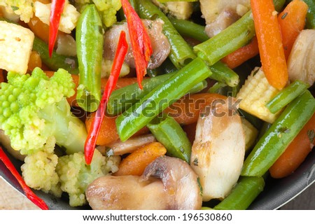 vegetables cooking