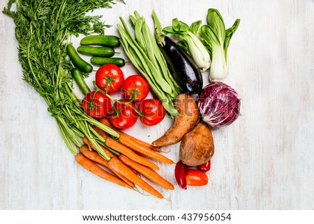 Vegetables fresh from the harvest - stock photo