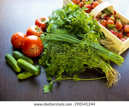 Vegetables, fruits  and herbs for detox