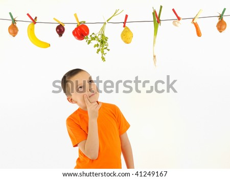 Vegetables Hanging - stock photo