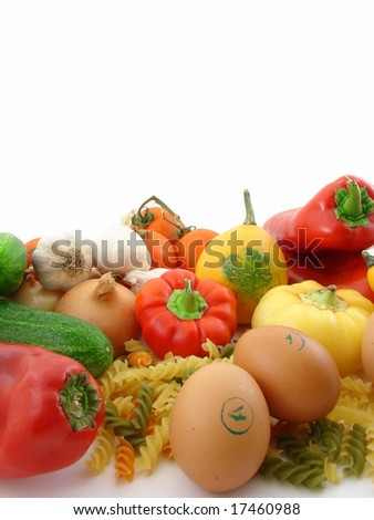 Vegetables - healthy food isolated
