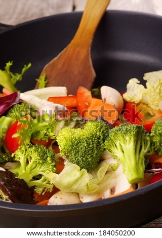 vegetables in a pan - stock photo