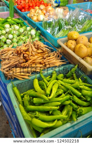 vegetables in market At Thailand - stock photo
