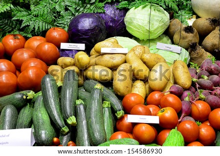 vegetables in market, in Thailand - stock photo