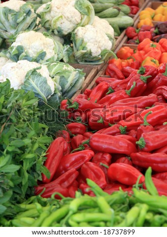 Vegetables in the market - stock photo