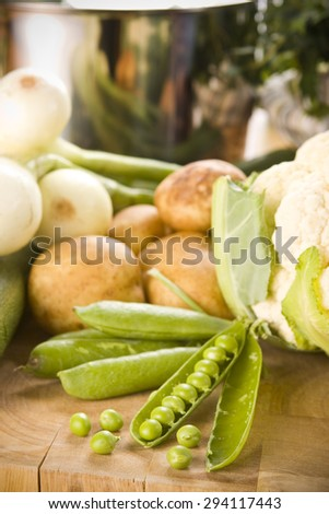 Vegetables on a cutting board