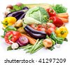Vegetables on a white background - stock photo