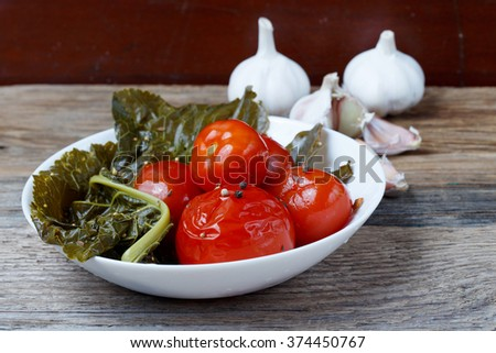 Vegetables on a wooden table.