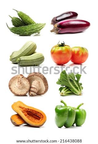 Vegetables on white background - stock photo