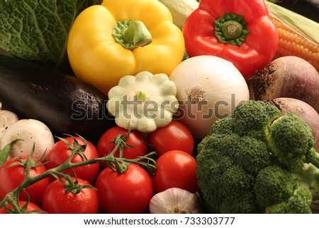 vegetables paprica broccoli cherry eggplants