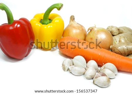 vegetables , Spices isolated
