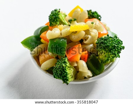 Vegetables with macaroni